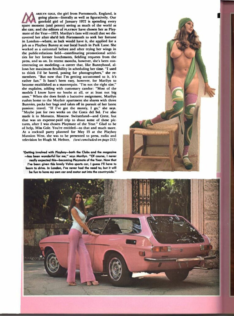 Are playboy playmate pink cars probably